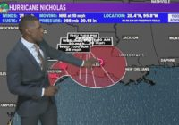 Nicholas makes landfall; Flooding could be catastrophic