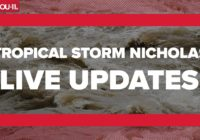 Tropical Storm Nicholas updates: Clear Creek out of its banks in 2 areas; flooding in Clear Lake Shores