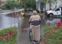 Wilmington woman experiencing issues getting around due to flooding problem in front of her home