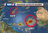 Ida's not done, Kate persists, Tropical Storm Larry forms