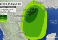 Will Tropical Storm Nicholas become a hurricane and when could it make landfall in Texas?