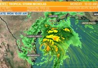 Tropical Storm Nicholas nears the Texas coast
