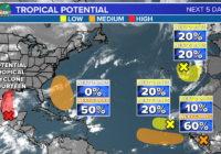 Tropical Storm Nicholas forms, tracking four tropical waves