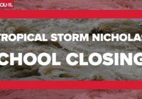 LIST: Schools closed Wednesday due to Hurricane Nicholas