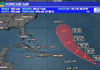 Sam, a powerful Category 4 hurricane in the Atlantic