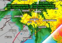 Nicholas downgraded to tropical storm with winds at 70 mph early Tuesday