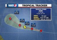 Tropical Storm Sam forms, expected to become hurricane