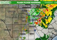 Tornado Warning for parts of Gonzales, Lavaca counties; Flash Flood Warning for SA area as storms move across South Texas | Track the rain